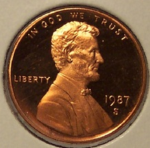 1987-S DCAM Proof Lincoln Penny PF65 #0414 - $3.99