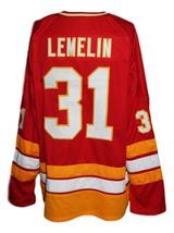 Any Name Number Atlanta Flames Retro Hockey Jersey New Red Lemelin Any Size image 2