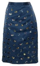 J Crew Collection Satin Embellished Pencil Skirt Size 6 Sample One of a ... - $183.99