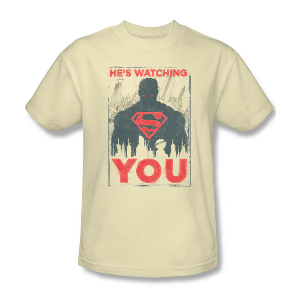 Superman Is Watching You T-shirt DC comic superhero graphic cotton tee SM1944