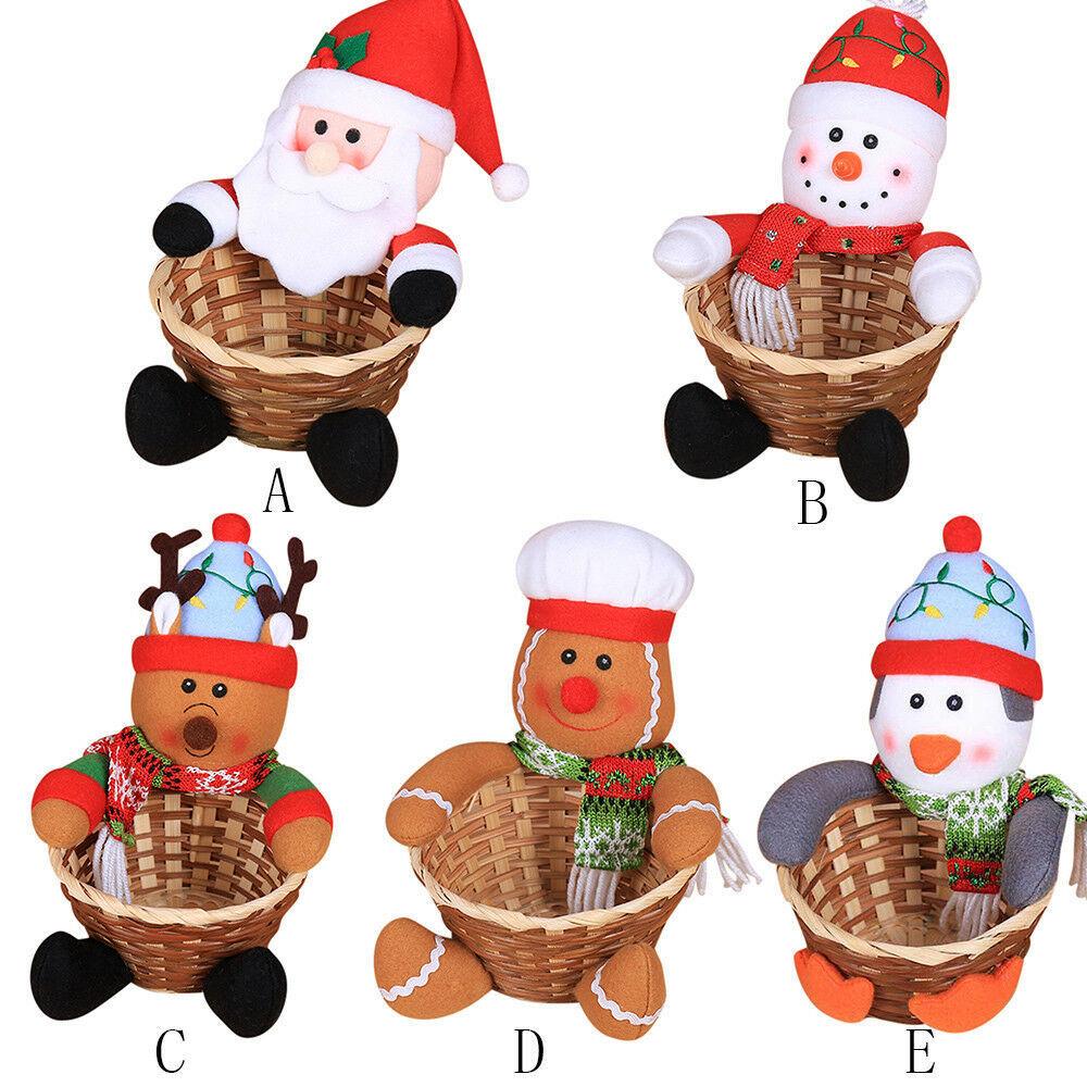 Merry Christmas Candy Storage Basket  Santa Claus Storage   - $9.86