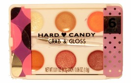 HARD CANDY 6 Color* Palette GRAB & GLOSS Stocking Stuffer HOLIDAY Lip Br... - $2.99