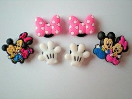 s Shoe Charm Fit Clogs Belts & WristBands W/Holes 6 Minnie Baby Bows - $9.99