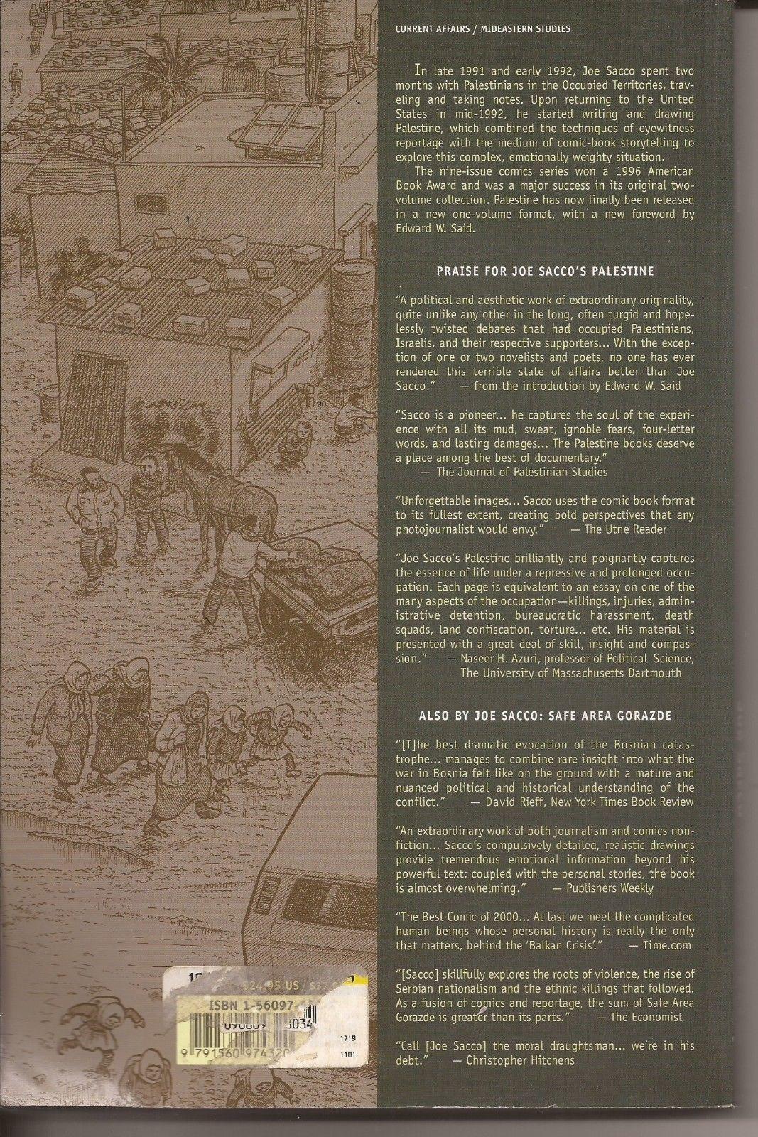 Joe Sacco Palestine TPB Fantagraphics Books Political Aesthetic Work