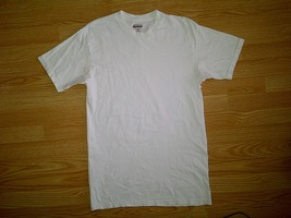 Kirkland Signature Casual Blank Plain 100% Cotton White S/S Tee T-Shirt M Medium - $4.99