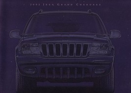 2002 Jeep GRAND CHEROKEE sales brochure catalog US 02 Laredo Overland - $8.00
