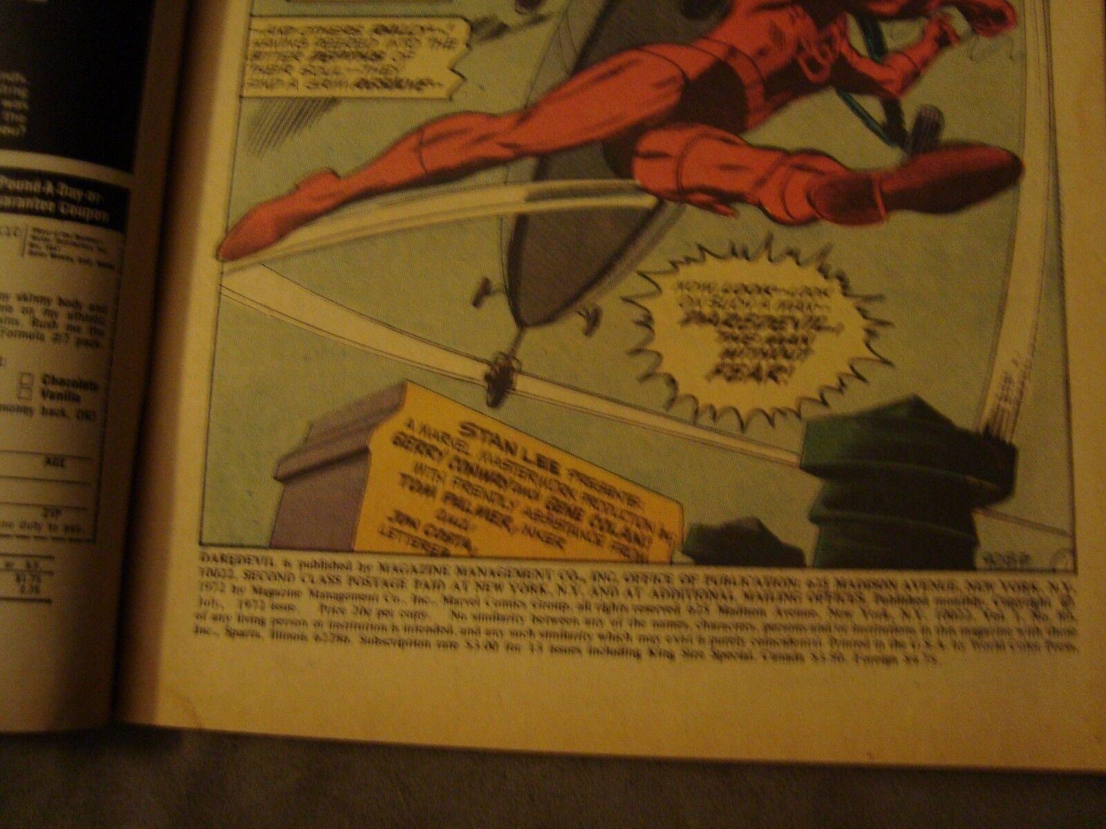 DAREDEVIL #89 FN Condition 1973 Original Marvel Comic Book Crisis In The Sky