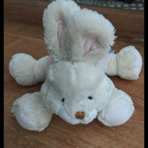 Primary image for Baby Bunny Plush Rattle Pink Bow Gund Buffy Rattle 36271