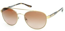 Michael Kors Sunglasses Sal Rounded Pale Gold Brown Lens Womens - $160.80