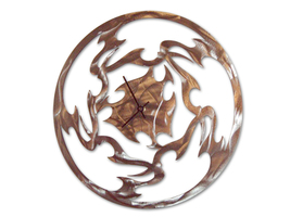 Hand-Crafted Abstract Retro Modern Steel Wall Clock - Spirit - $55.00