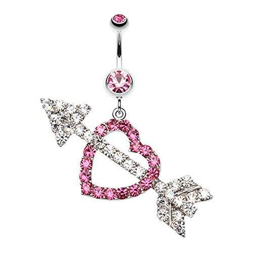 Primary image for Jeweled Heart Arrow WildKlass Belly Button Ring