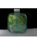 Dichroic Glass Pendant with Sterling Silver Bail, RKS249 - $20.00