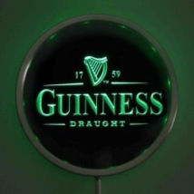 Guinness Draught Led Round Neon Sign Bar Beer Pub - $38.99
