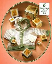 Y667 Crochet PATTERN ONLY Baby Soft Hooded Jacket Sweater Pattern - $7.50