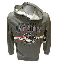 New England Patriots NFL Team Apparel Hoodie Sweatshirt Gray Mens Small NWT - $34.99