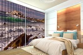 3D Ocean Sky View 151 Blockout Photo Curtain Print Curtains Drapes US Lemon - $177.64+