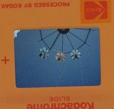 Vtg 35mm Slide Six Flags Parachute Ride Texas Amusement Park 1976 - $11.23