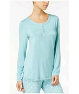 Alfani Womens Large Pull Over Lace Trim Long Sleeve Pajama Top NEW - $15.03