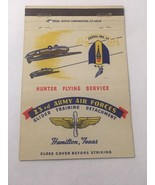 Vintage Matchbook Cover Matchcover  23rd US Army Air Force Hamilton Texa... - $5.70