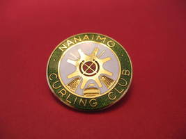Nanaimo BC. Curling Club Lapel Hat Pin Souvenir Collector British Columbia  - $6.99