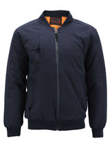 Men's Multi Pocket Water Resistant Industrial Uniform Quilted Bomber Work Jacket image 6