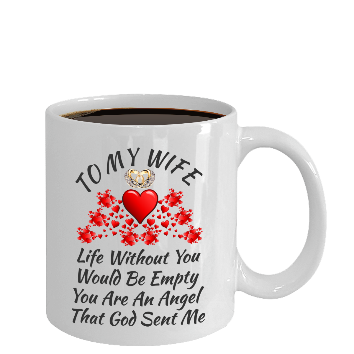 Wedding Anniversary Engagement Birthday Gifts For Wife Women Color Changing Mug