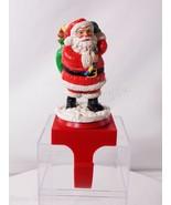San Francisco Music Box Co Christmas Rotating Santa Claus Stocking Holde... - $15.83
