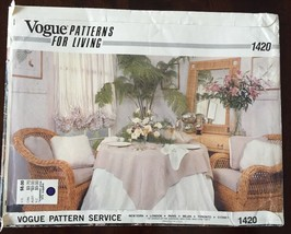 Vogue 1420 Napkin Tablecloth Placemat Pillow Sewing Pattern Home Decor U... - $7.87