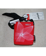 "SLR Camera Bag Red Golla Bags 5.9""x6.7""x3.5"" Padded Adjustable Strap NWT  - $14.80"