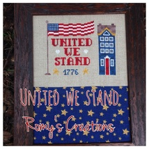 United We Stand cross stitch chart Romy's Creations  - $7.10