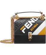 NWT Fendi KAN I Mania logo embossed leather small bag; Rtl $2690 - $1,975.00