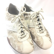 Coach Womens Shoes Size 7M Jayme Tan Logo Casual Fashion Sneaker - $34.16