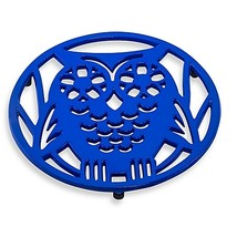 Old Dutch International Wise Owl Trivet in Dazzling Blue - $11.99