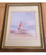 Beach Girl by M. Wyatt - Pastel Color -Woman On The Beach Limited Ed 200... - $27.44