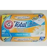 Arm & Hammer Total 2 in 1 Dryer Cloths, Classic Fresh 40 Moist Dryer Clo... - $29.70