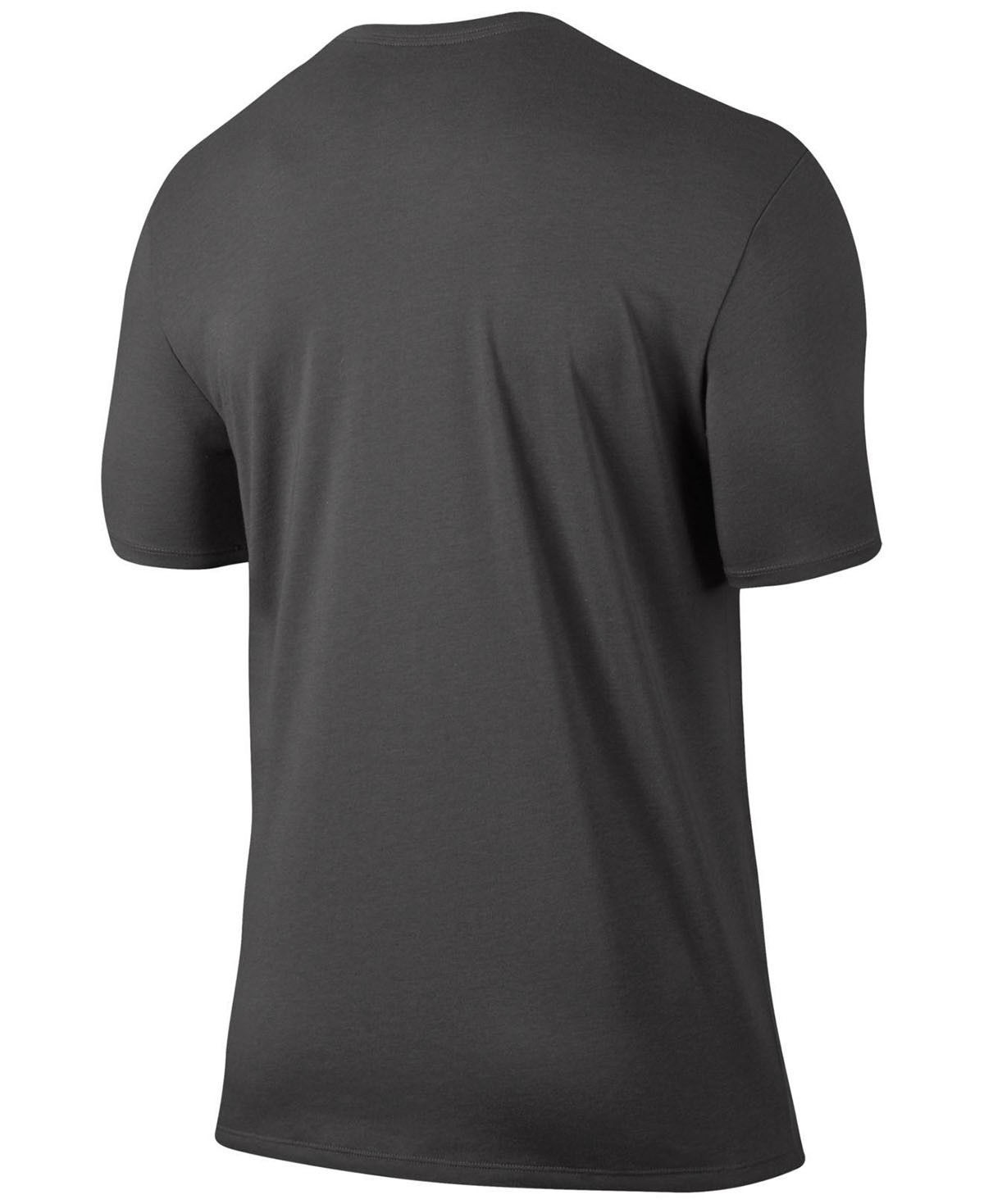 NEW MENS NIKE DRI-FIT CREW NECK JUST DO IT GRAPHIC GREY T SHIRT TEE L image 2