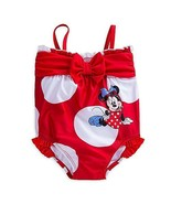 Disney Minnie Mouse Bow Swimsuit for Baby Size 3-6 MO Red - $17.23