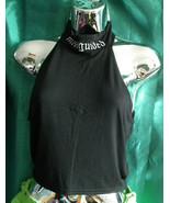 funky punky Missguided Black crop ,logo Tops -3 designs.festival, summer... - $27.68