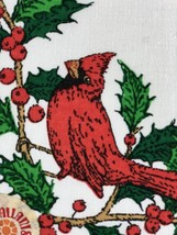 Vintage Christmas Holiday Cloth Dinner Napkins  Linens - $24.75