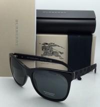 Nuevo Burberry Gafas de Sol B 4183 3001/87 58-17 140 Marco Negro con / Gris - $209.54