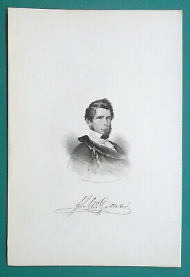 Primary image for JOHN McCONNEL Lawyer Writer Mexican War Soldier - 1854 Portrait Antique Print