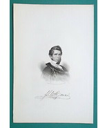 JOHN McCONNEL Lawyer Writer Mexican War Soldier - 1854 Portrait Antique ... - $9.00