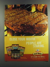 2001 McCormick Grill Mates Ad - Close your mouth. People are staring - $14.99