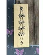 A Stamp In The Hand Rubber Stamp Hearts Stacked Love Flourish #U20 - $4.95