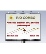 Rio Combo -  Brazilian Skewers for BBQ - 28 inches - 2 medium + 2 small ... - $42.00