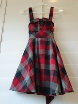 red PLAID DRESS JUMPER S - $31.48