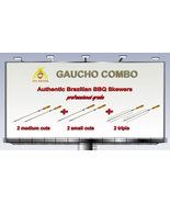 "Gaucho Combo -  Brazilian Skewers for BBQ - 28"" - 2 small + 2 medium + 2... - $86.00"