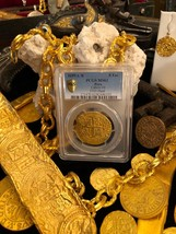 PERU 1699 8 ESCUDOS PCGS 62 1715 FLEET GOLD DOUBLOON PIRATE TREASURE COIN - $39,500.00