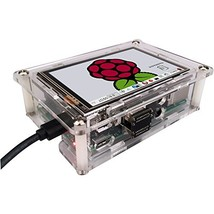 KOOKYE 3.5''Touch Screen Transparent Acrylic Raspberry Pi Case + Cooling Heated