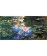 Water Lillies # 4 by Monet - 40x50 inch Canvas Wall Art Home Decor - $159.00